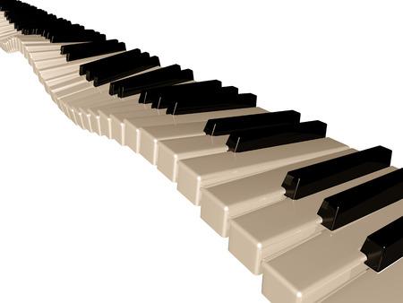 Amazing piano keys  Isolated