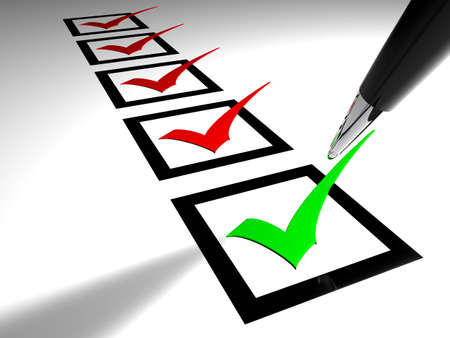 Checkbox with ticks Stock Photo