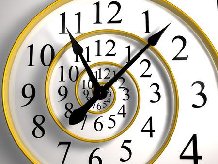 black clock hands: infinite time clock