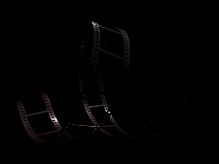 Filmstrip on black background