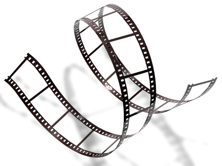 Filmstrip on white background, isolated