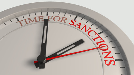 Time for sanctions Stock Photo