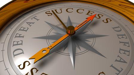 overthrow: Success vs defeat concept.