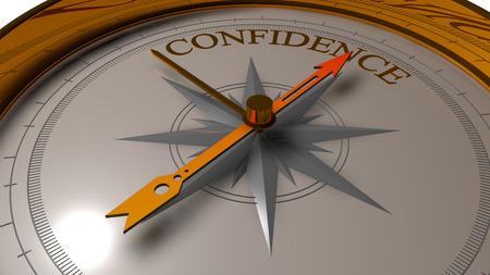 sureness: Confidence concept.