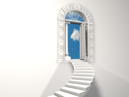 Paradise staircase. Stock Photo