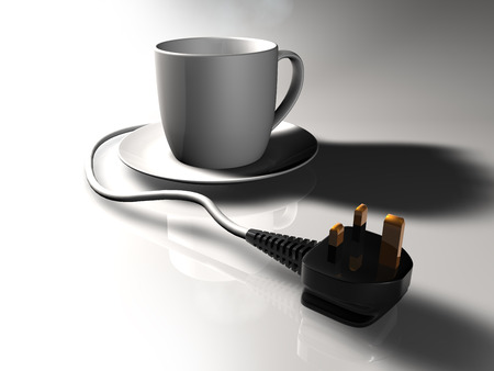 Plug-in Cup of tea with UK plug.