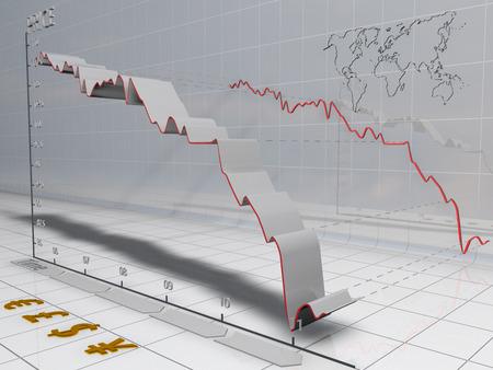 bearish: Bearish financial chart.