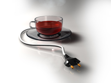 Plug-in  Cup of tea with EUUS plug.