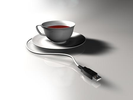 plugin: Plug-in Cup of tea with USB plug.