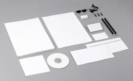 Фото Шаблон для брендинга идентичность для графических дизайнеров презентаций и портфелей Фото со стока