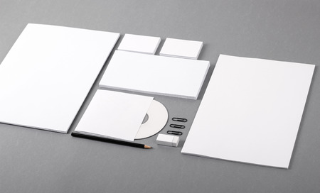 pile of paper: Photo  Template for branding identity  For graphic designers presentations and portfolios