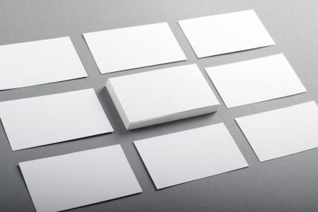 ビジネス カードのセット 写真素材