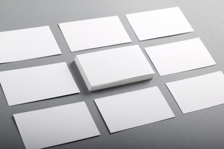 business card design: Set of business cards Stock Photo