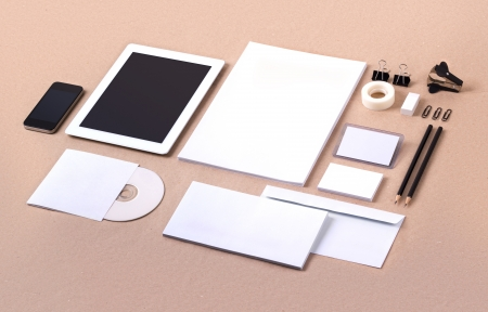 Template for branding identity. For graphic designers presentations and portfolios.
