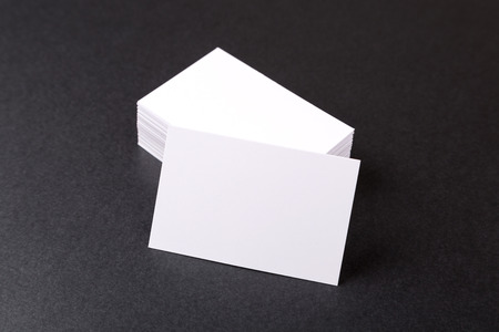 Photo of business cards. Template for branding identity. For graphic designers presentations and portfolios
