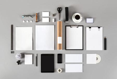 写真。ブランドのアイデンティティのテンプレートです。グラフィック デザイナーのプレゼンテーションとポートフォリオ。