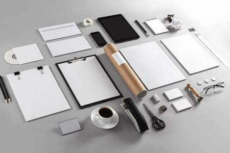 Photo. Template for branding identity. For graphic designers presentations and portfolios. Foto de archivo