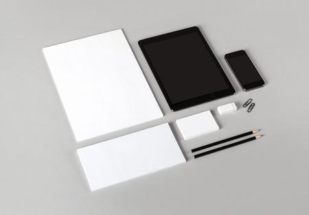 Photo. Template for branding identity. For graphic designers presentations and portfolios. Standard-Bild