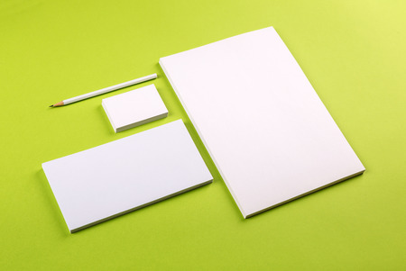 business card: Photo. Template for branding identity. For graphic designers presentations and portfolios. Stock Photo