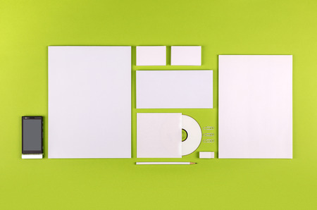 Photo. Template for branding identity. For graphic designers presentations and portfolios. Stock Photo