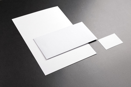 business cards: Photo. Template for branding identity. For graphic designers presentations and portfolios. Stock Photo