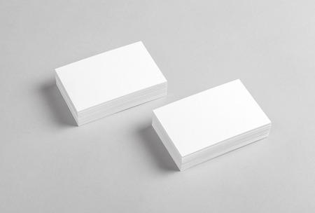 Foto van visitekaartjes. Mock-up voor branding identiteit. Voor grafisch ontwerpers presentaties en portefeuilles Stockfoto