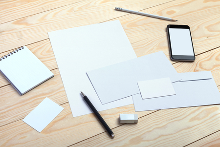 branding: Template for branding identity. For graphic designers presentations and portfolios. Stock Photo