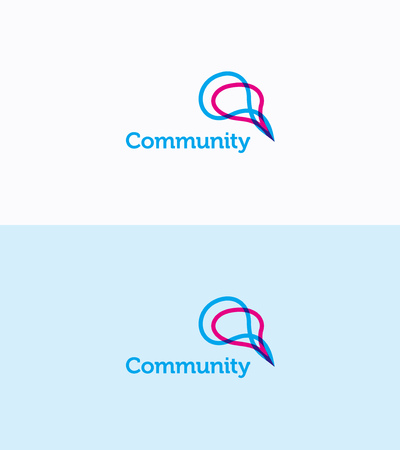 rounding: Social Community network logo