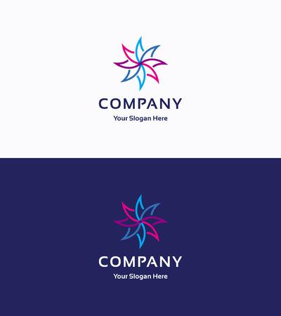 logo ordinateur: Une société whirligig torsadée Illustration