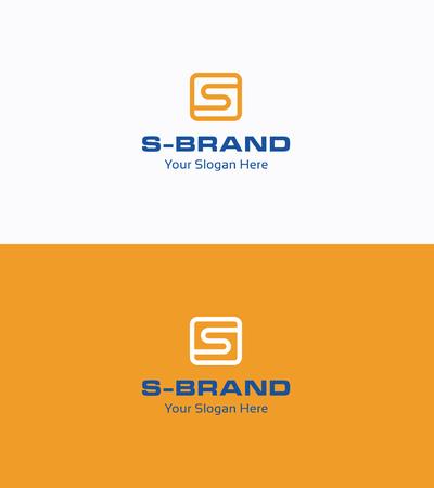 rounding: S letter ribbon flat logo