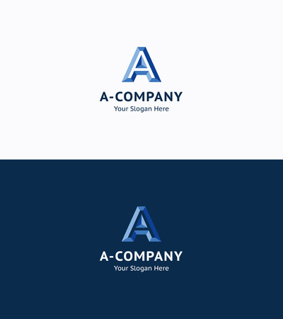 logo marketing: A-letter premium 3d logo
