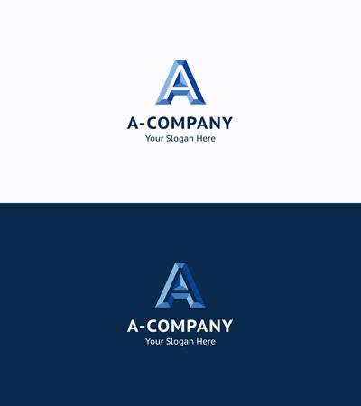 industry logo: A-letter premium 3d logo