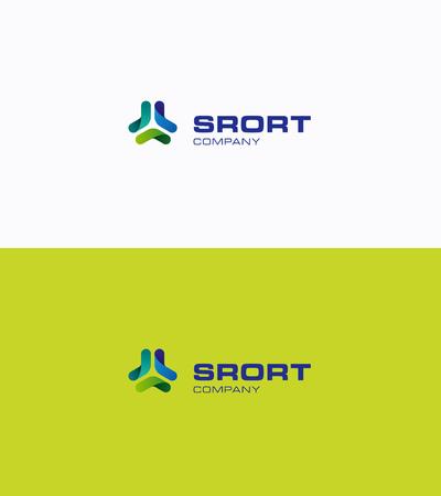 Бумеранг сеть спорт логотип Иллюстрация