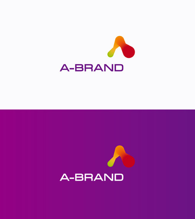 logo marketing: Letter A futuristic creative logo