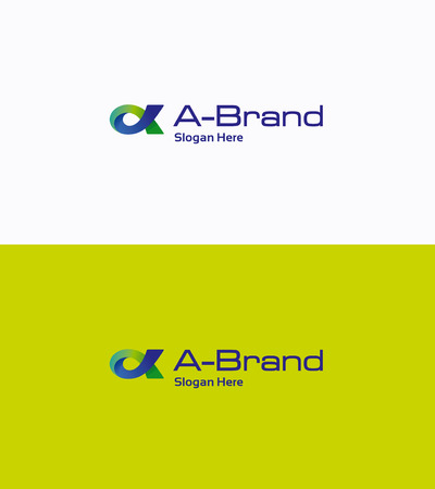 bucle: Letter A fish loop gradient logo