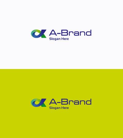 alfa: Letter A fish loop gradient logo