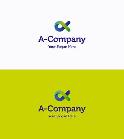 pętla: Letter A fish loop gradient logo