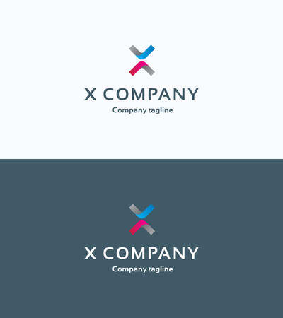 red x: X Company Logo Illustration