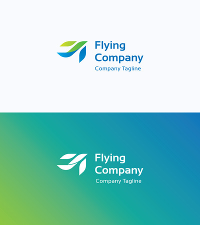 airplane wing: Flying Company Logo Illustration
