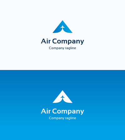 abstract wing: Air Company Logo
