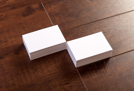blank template: Photo of business cards. Mock-up for branding identity. For graphic designers presentations and portfolios