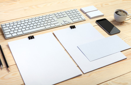mockup: Template for branding identity. For graphic designers presentations and portfolios. Stock Photo
