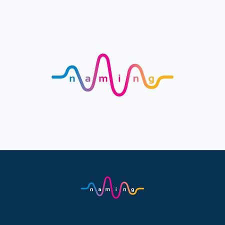 Vague sonore audio danse égaliseur logo Banque d'images - 51558137