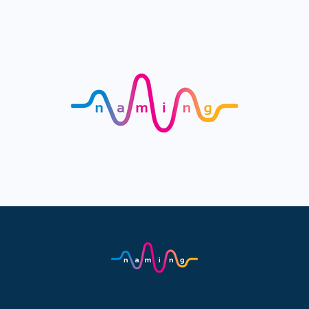 Wave audio geluid dans equalizer logo