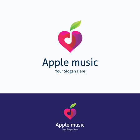 logo music: Apple music love note heart sound logo