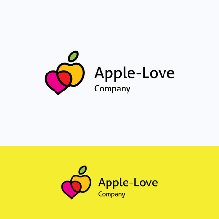 apple computer: Apple love heart logo