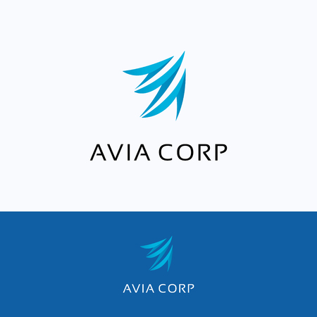 aero: Avia corporation A letter wing flying aero aviation, bird Logo