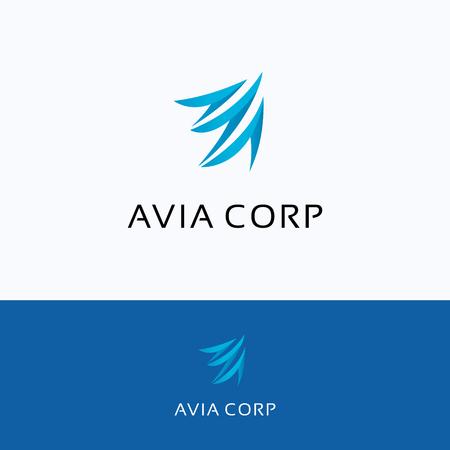 logos de empresas: empresa Avia Una carta ala de vuelo de la aviación Aero, aves Logo Vectores