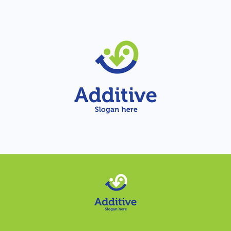 food plate: Additive food add smile arrow face children plate logo Illustration
