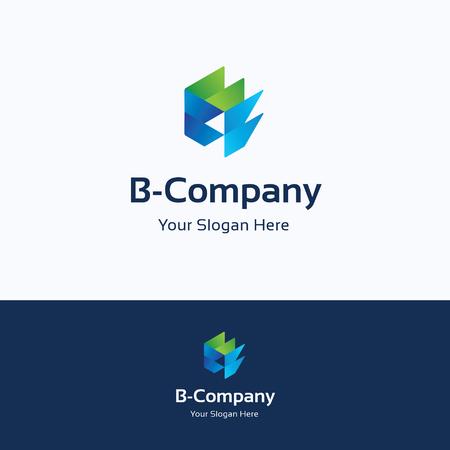 studio b: Hexagon 3D cube dinamic b letter logo Illustration